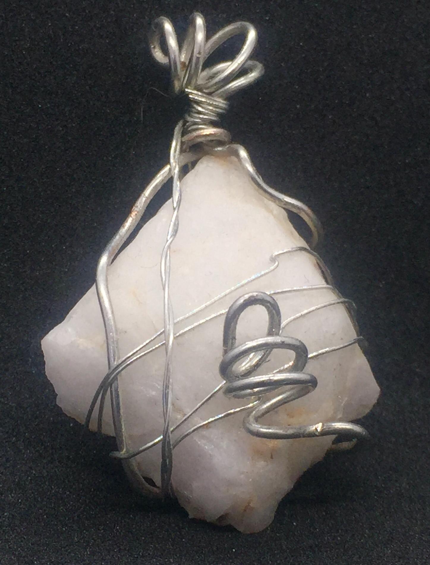 Silver Copper Wire Wrap Stone