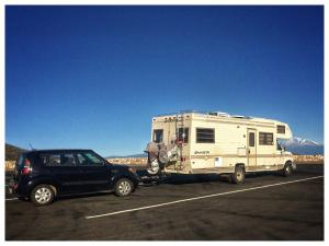 The RV and Car at Mt, Shasta.